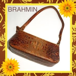 BRAHMIN Mini Shldr Bag 💼 Tstd Almond Collection